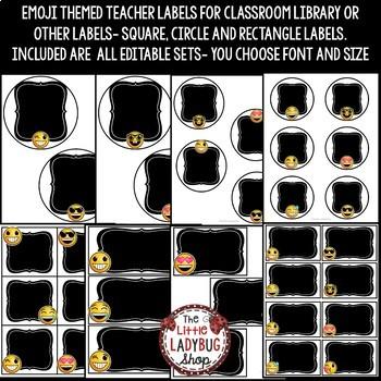 Classroom Labels EDITABLE- Emoji Theme Classroom Decor