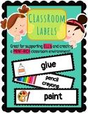 (ENGLISH) Classroom Labels