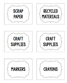 Classroom Labels- Editable!