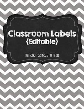 Classroom Labels {Editable}