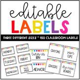 Classroom Labels - Editable