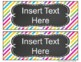 Classroom Labels {Editable} - Bright Patterns