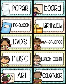 Classroom Labels - Editable {Chevron Classroom Set}