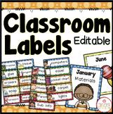 Editable Classroom Labels {Dots Classroom Set}