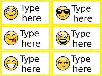 Classroom Labels - Editable - Emoji Theme