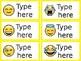 Emoji Classroom Labels - Editable