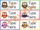 Classroom Labels - Editable - Owl Theme