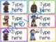 Classroom Labels - Editable - Pirate Theme