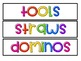Classroom Labels- Editable- Rainbow Drawers