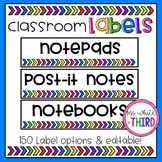 Classroom Labels - Editable, Sterilite Drawers