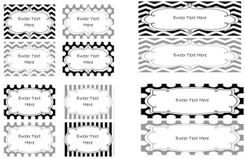 Classroom Labels - Editable (Variety Bundle)