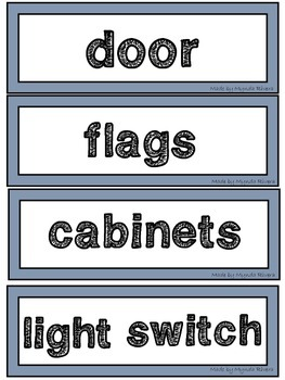 Classroom Labels (English & Spanish)
