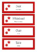 Classroom Labels - English with Spanish Translation