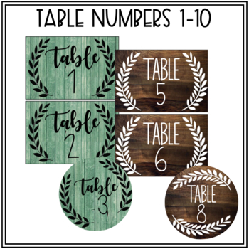 Editable Classroom Labels (Farmhouse/Shabby Chic)