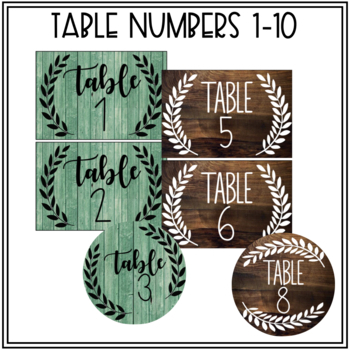 Editable Classroom Labels (Farmhouse/Shabby Chic)