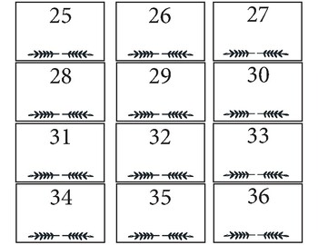 Classroom Labels: For desks, trays, periods, and blanks.