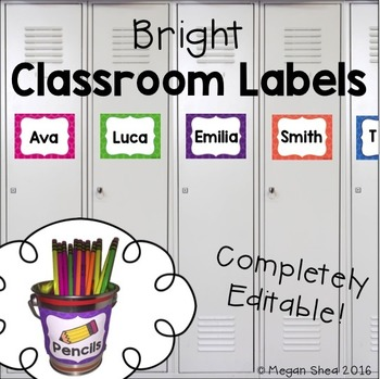 Classroom Labels Free