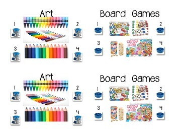 Labels Classroom Kindergarten Free Choice Time
