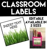Classroom Labels - Grass Theme #ausbts19