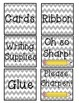 Classroom Labels Gray Chevron Theme ALL LABELS!