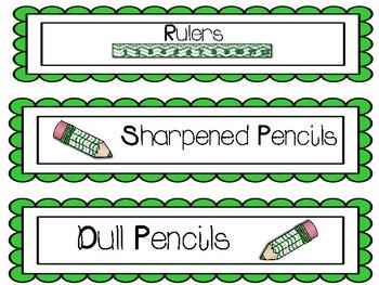 Classroom Labels (Green)