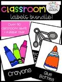 Classroom Labels Bundle + Editable Slide