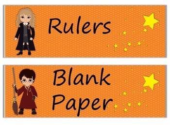 Classroom Labels Harry Potter Theme