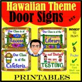 Hawaiian Theme Door Signs