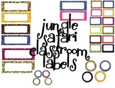 Classroom Labels - Jungle/ Safari