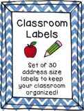 Classroom Labels, Kids, Address Labels, Editable