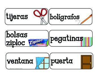 Classroom Labels: Labels for the Primary Classroom- IN SPANISH