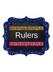 "Classroom Labels {Large 5.83x7}: Glitter & Chalk - ""EDITABLE"" POWER-POINT Format"