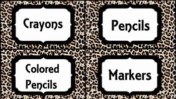 Classroom Labels (Leopard)
