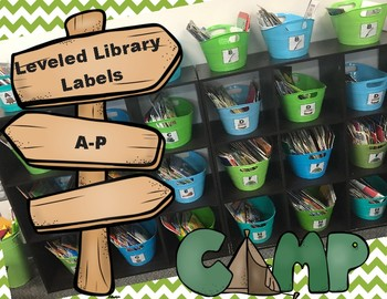 Classroom Labels: Leveled Library ~ Camping Theme