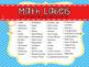 Classroom Labels: Math