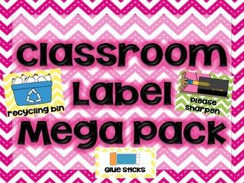"Chevron Themed ""Classroom Labels Mega Pack"""