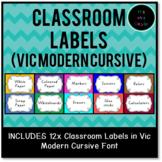 Classroom Labels Vic Modern Cursive