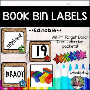 Classroom Labels {NUMBERS} for Bins *Editable*