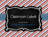 Classroom Labels (Nautical Theme)
