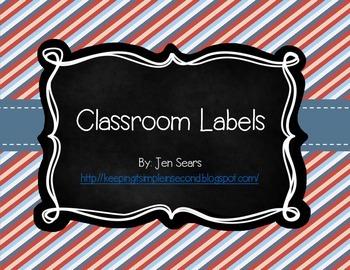Classroom Labels (Nautical Theme)