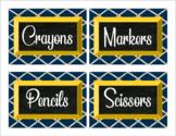 Classroom Labels, Nautical Theme (Editable)