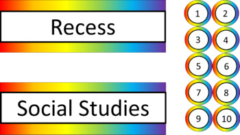 Classroom Labels - Noah's Rainbow Megabundle