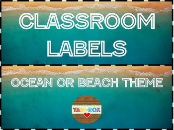 LABELS for Supplies and Bulletin Boards Posters – Ocean