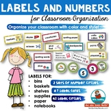 Labels and Numbers for Classroom   [Back to School] Classroom Organization