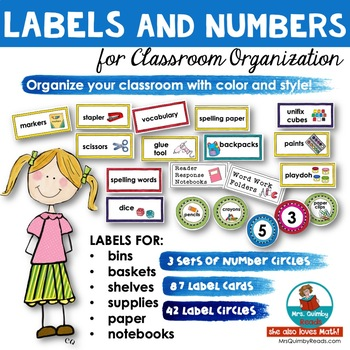 Labels and Numbers for Classroom | [Back to School] Classroom Organization
