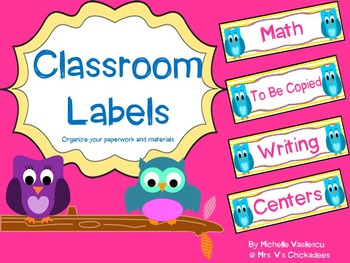 Classroom Labels {Owl Theme}