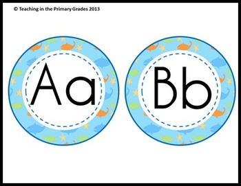 Classroom Labels Pack- Ocean Theme (Editable Text)