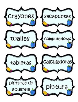 Classroom Labels Pack-Spanish