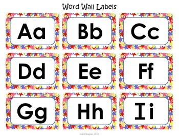 Classroom Labels Packet - Stars
