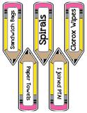 Classroom Labels (Pencils)